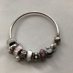 Pandora Bracelet with Beads and Charms